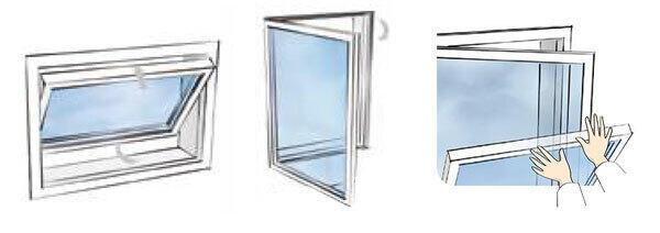 Utilisation fenêtre alu oscillobatante